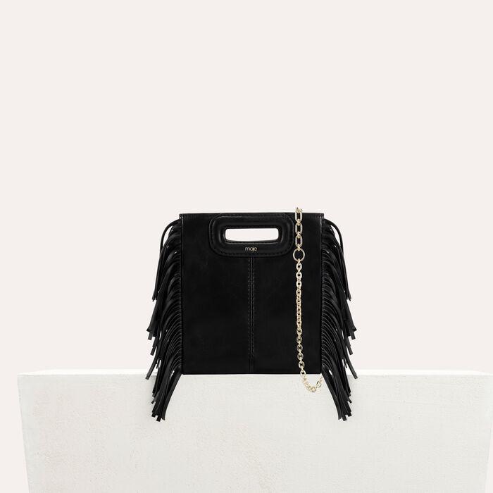 Mini borsa M con cadena in pelle : Borse M colore Nero
