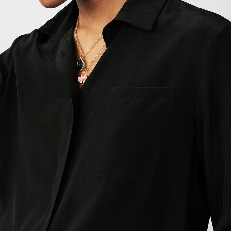 Camicetta in seta : Camicie colore Nero