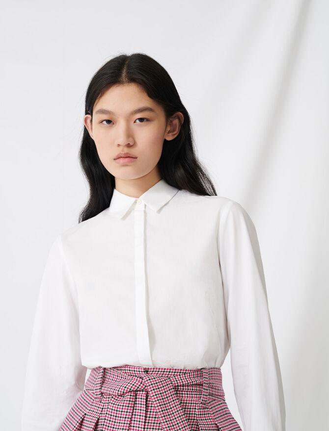 Camicia bianca in popeline -  - MAJE