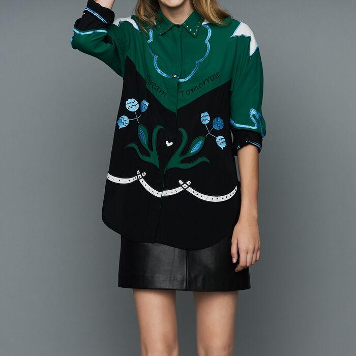 Camicia multicolore con ricami : Urban colore Multicolore