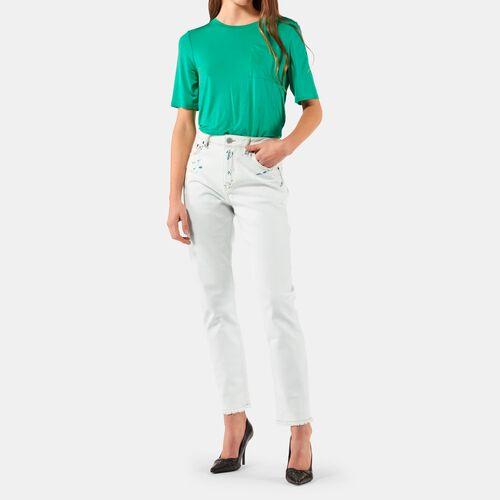 STRAIGHT JEANS : Nuova collezione colore Bianco