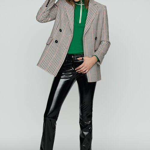 Blazer a quadri in misto lana : Office girl colore CARREAUX