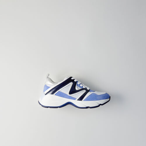Sneakers W22 in multimateriale : Sneakers colore Blu
