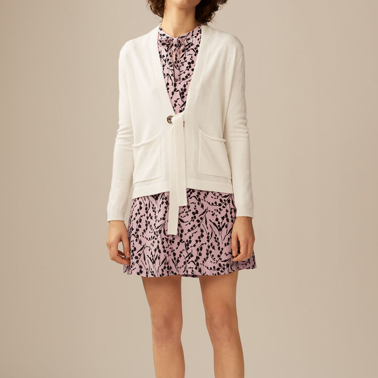 Gilet fine in lana cachemire : Maglieria colore Ecru