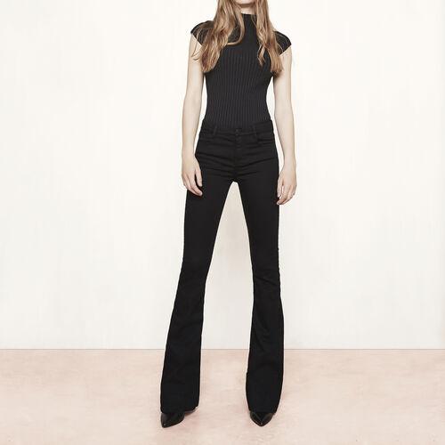 Jeans a zampa d'elefante : Pantaloni & jeans colore Nero