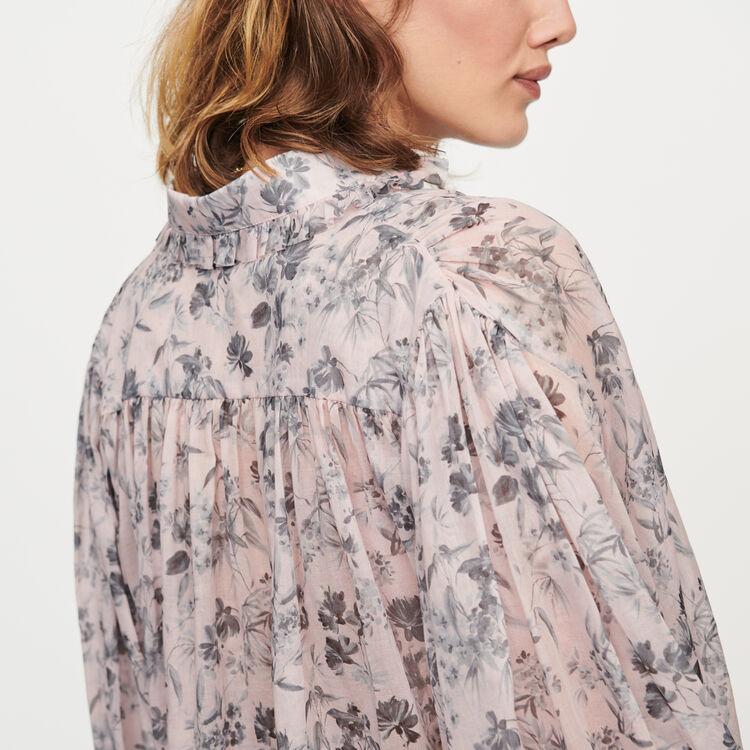 Camicia stampata in voile di cotone : Tops e Camicie colore LILA