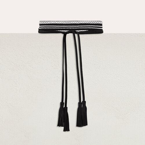 Cintura alta scamosciata da annodare : Accessori colore Bicolore