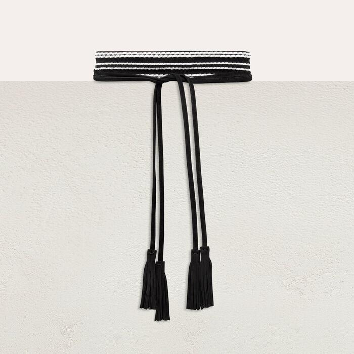 Cintura alta scamosciata da annodare : Cinture colore Bicolore
