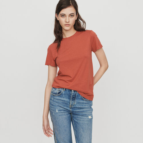 Short sleeve T-shirt : T-Shirts colore Terracotta