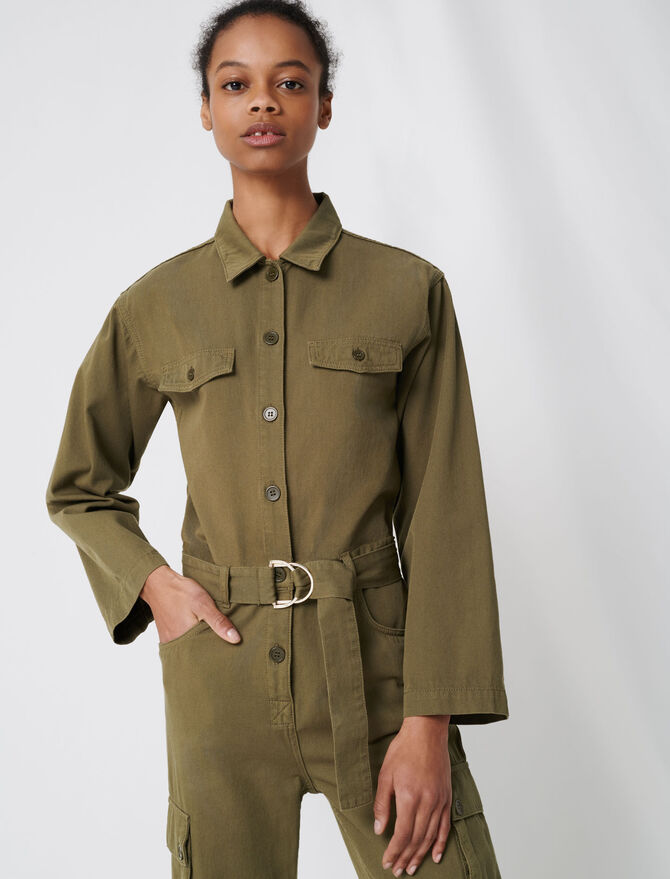 Tuta workwear stile army - Jumpsuits - MAJE
