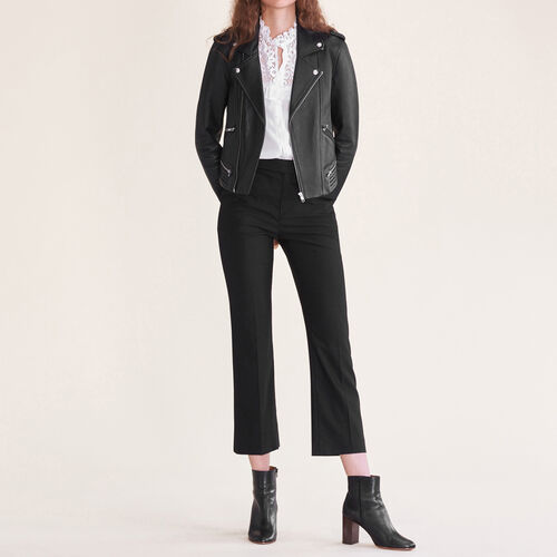 Pantaloni da città in lana : Pantaloni & jeans colore Nero