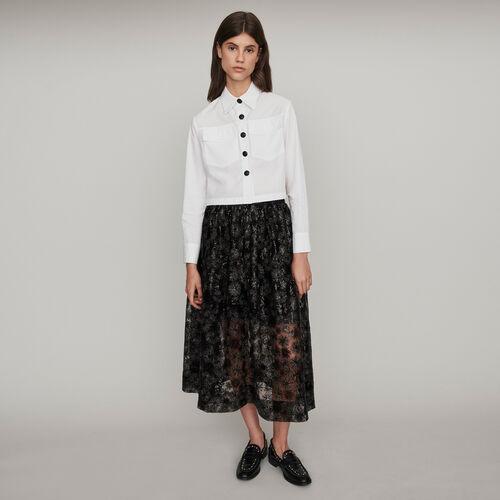 Camicia in popeline : Collezione Inverno colore Bianco