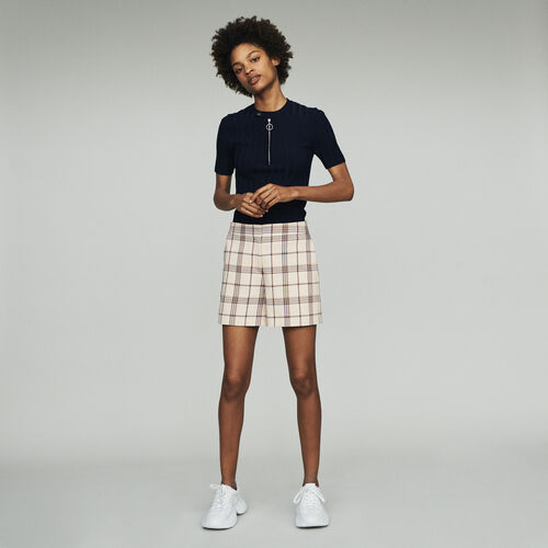 Short à carreaux : Gonne e shorts colore CARREAUX