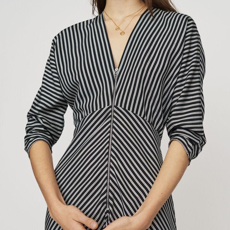 Vestito midi a righe con zip : Vestiti colore A Righe