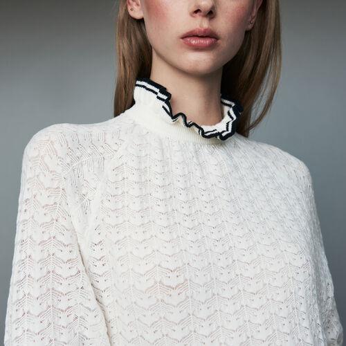 Pull in maglia chevron : Maglieria colore Nero
