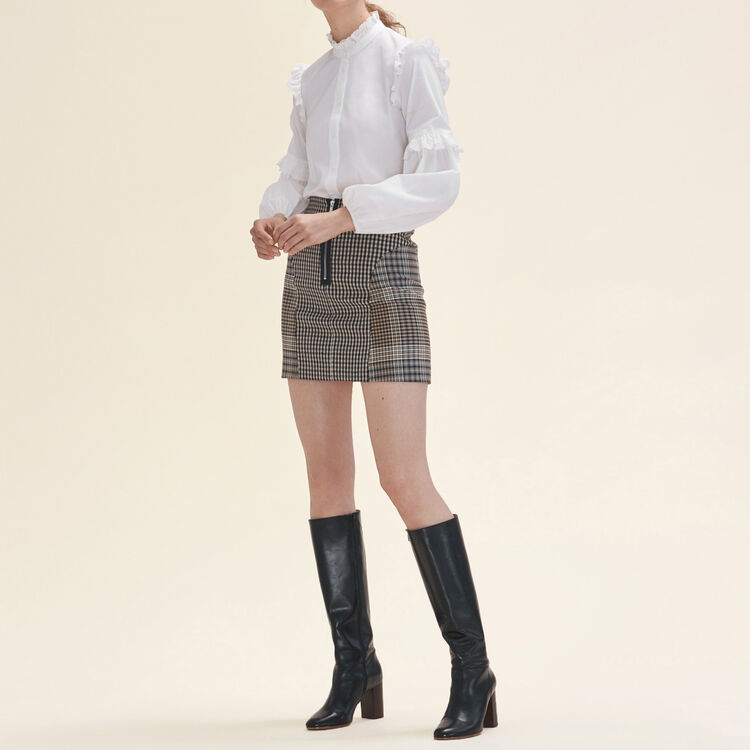 Gonna a quadri : Gonne e shorts colore Jacquard