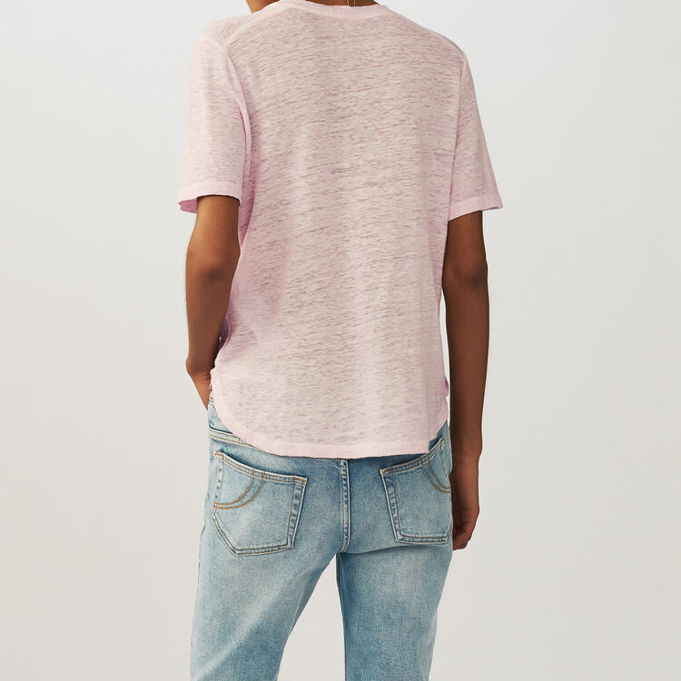 Top loose in lino : T-Shirts colore LILAS