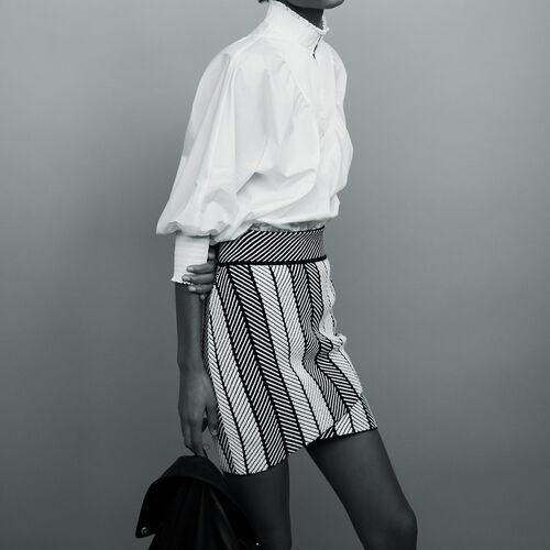 Gonna a portafoglio in maglia : Gonne e shorts colore Multicolore