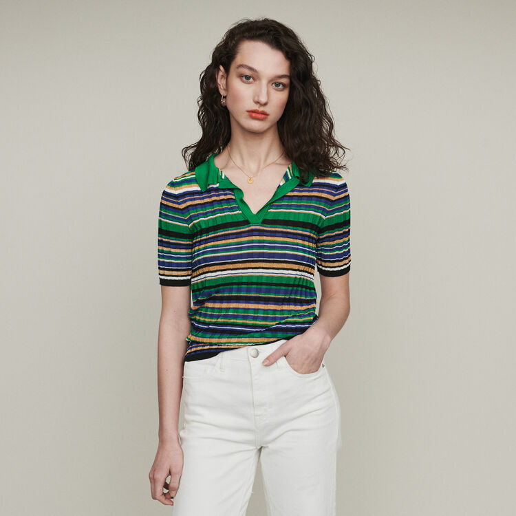 Polo in maglia a righe : Pullover e cardigan colore Multicolore
