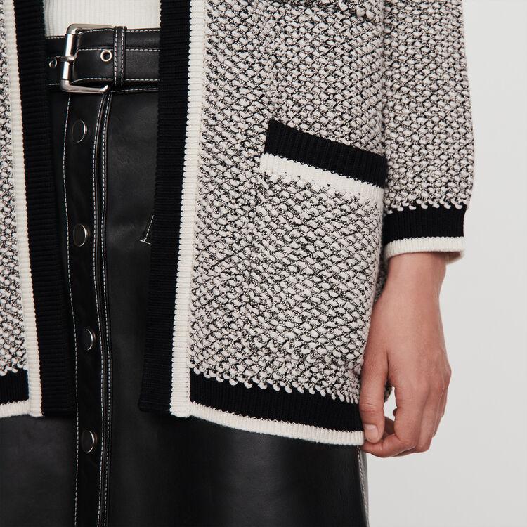 Cardigan con bande a contrastro : Pullover e cardigan colore Nero