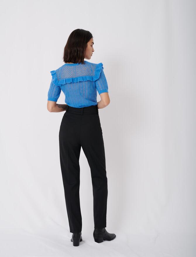 Pantalon carotte avec ceinture - Pantaloni e Jeans - MAJE