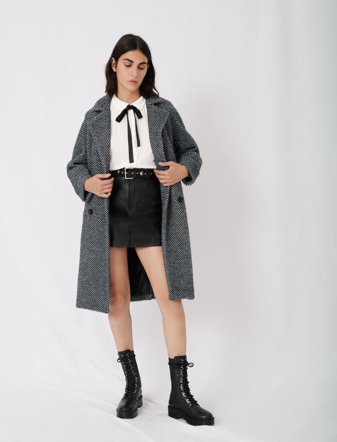 Cappotto in tricotine a quadri - Warm up - MAJE