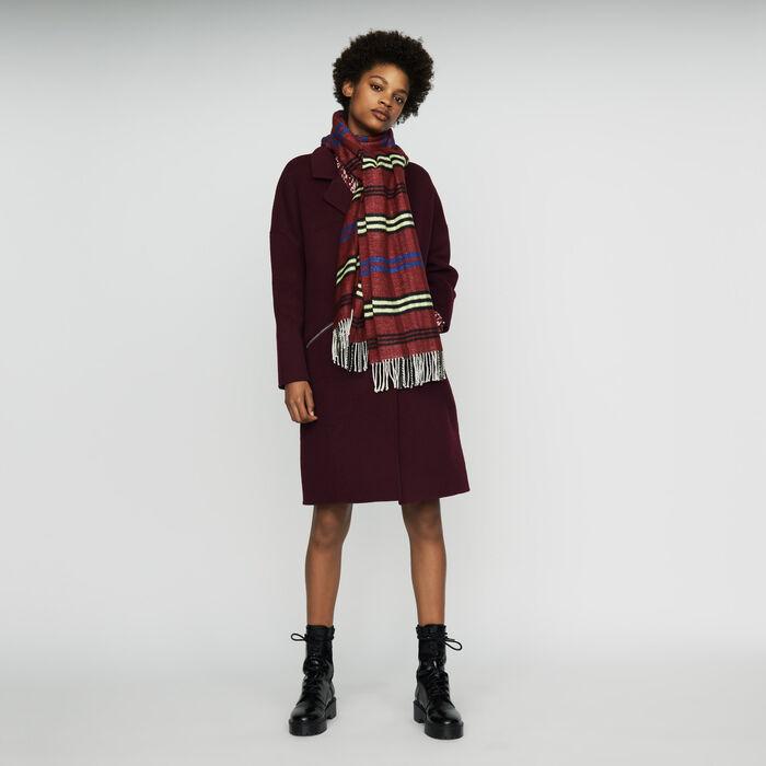 Sciarpa a quadri in maglia : Nuova collezione colore Bordeaux