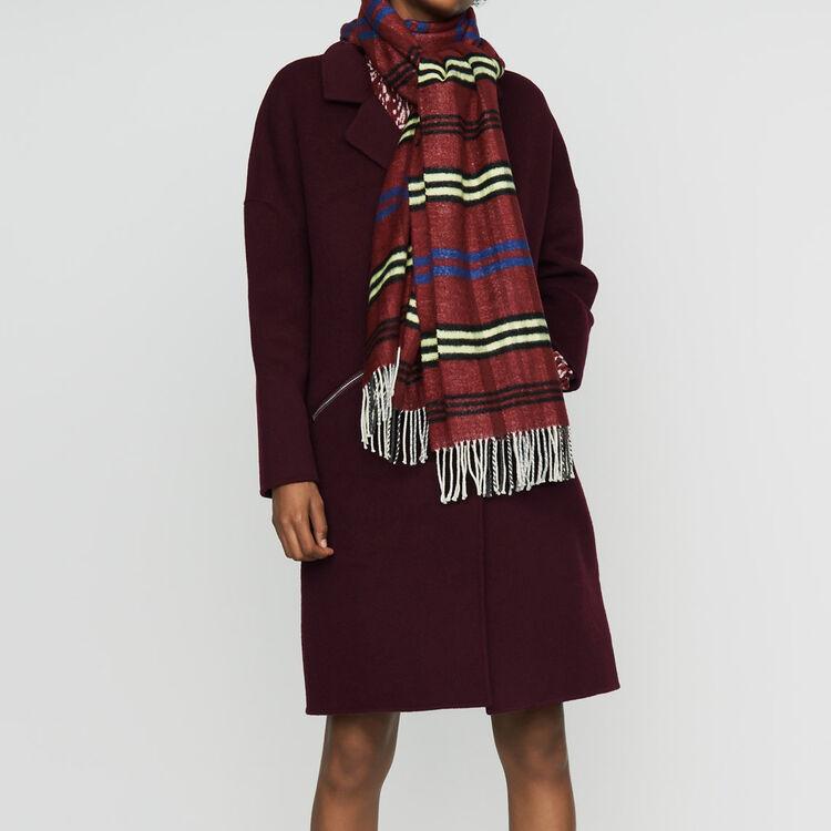 Cappotto in lana double face : Prêt-à-porter colore Bordeaux