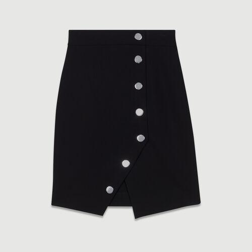 Gonna a tubino con bottoni : Gonne e shorts colore Nero