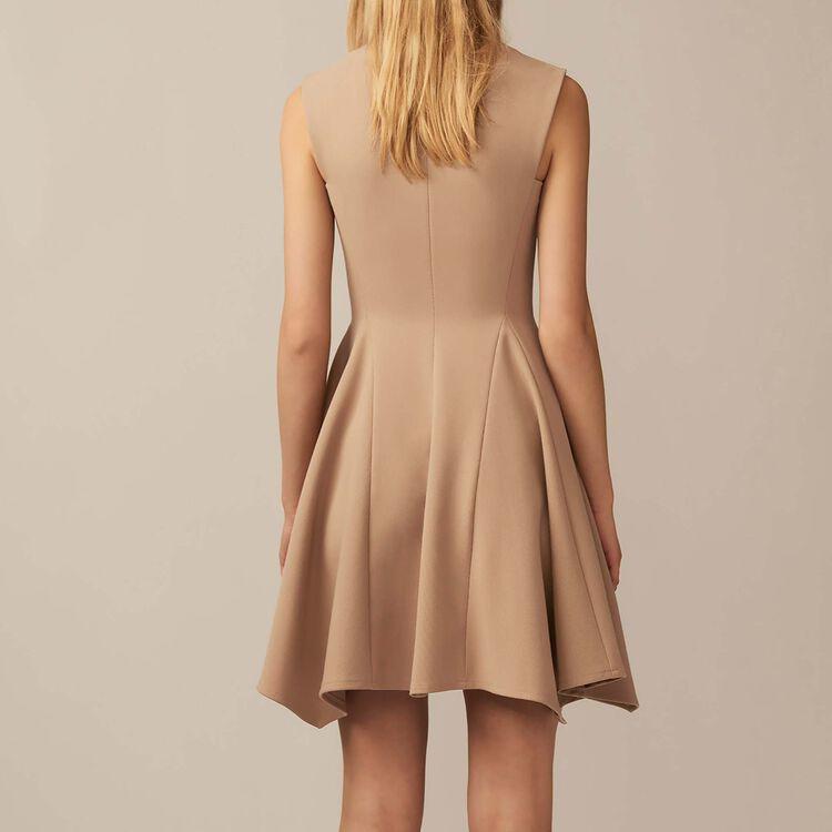 Vestito chasuble con scollatura a V : Vestiti colore Cammello