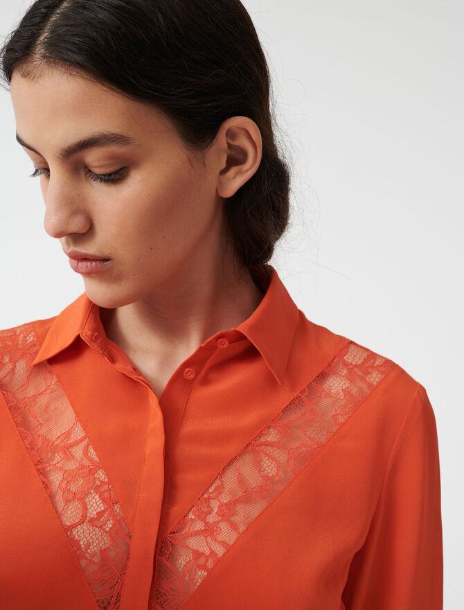 Camicia con applicazioni in pizzo - Tops e Camicie - MAJE