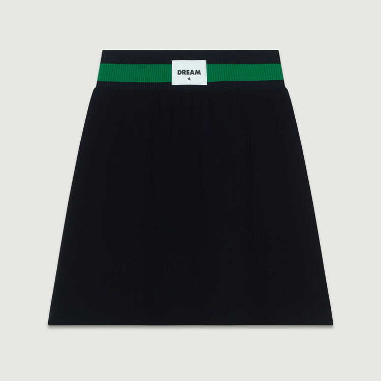 Gonna corta in crêpe : Gonne e shorts colore Nero