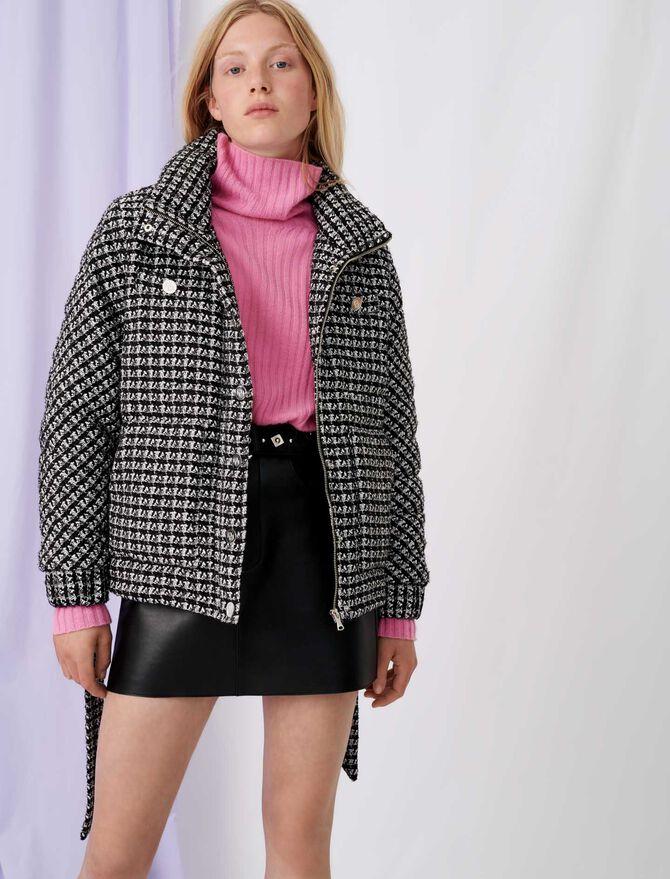 Piumino stile tweed bicolore - Cappotti e Giubbotti - MAJE