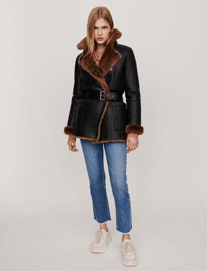 Canadian-style reversible shearling - Tutta la collezione - MAJE
