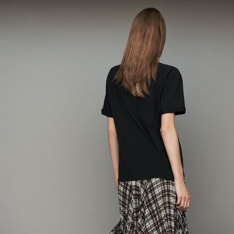 Tee-shirt oversize in cotone con scritta : T-Shirts colore Nero