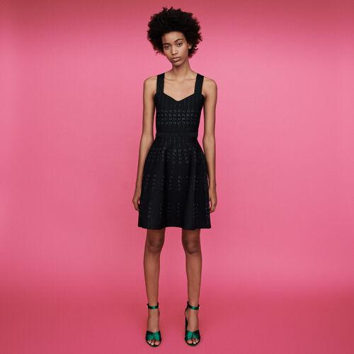 Vestito in maglia e Lurex : Vestiti colore Nero