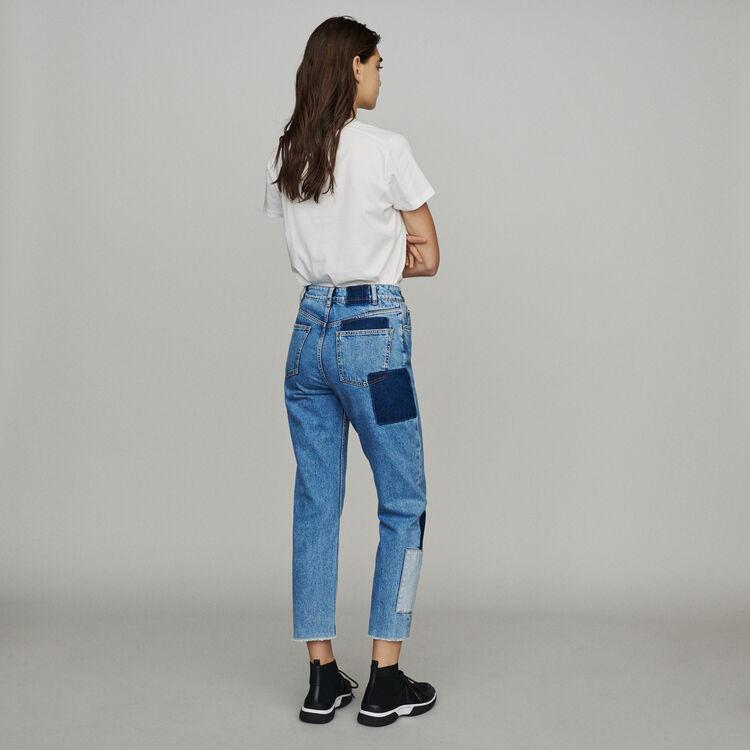 Jeans dritti con applicazioni : Pantaloni e Jeans colore Blu