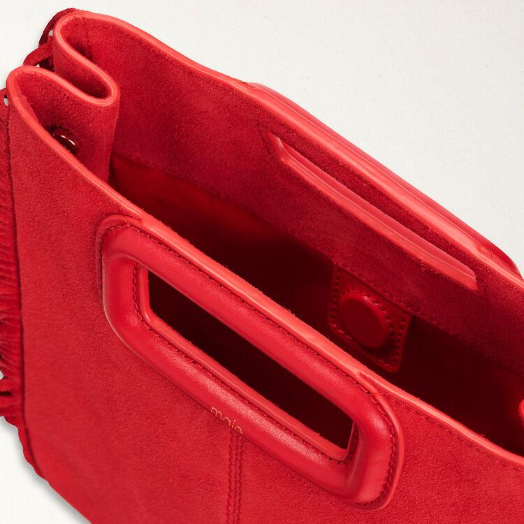 Borsa M in suede : Borse M colore Rosso