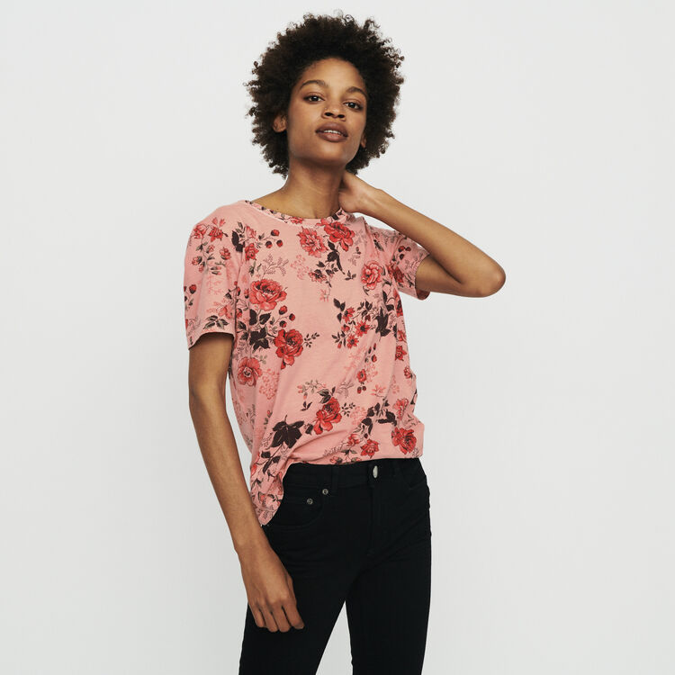Tee-shirt con stampa floreale : T-Shirts colore IMPRIME