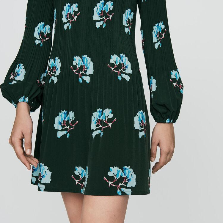 Vestito plissettato con stampa florelae : Prêt-à-porter colore IMPRIME