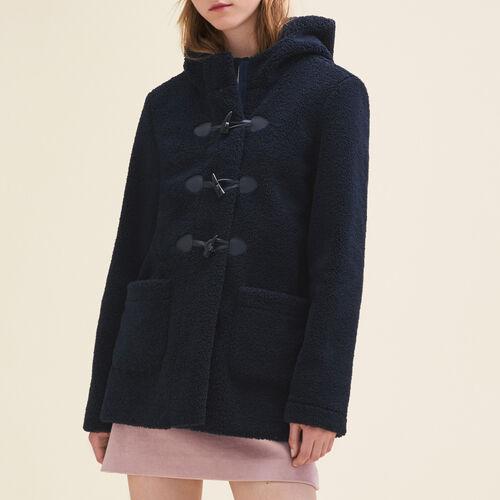 Montgomery in pelliccia ecologica : Cappotti colore Blu Marino