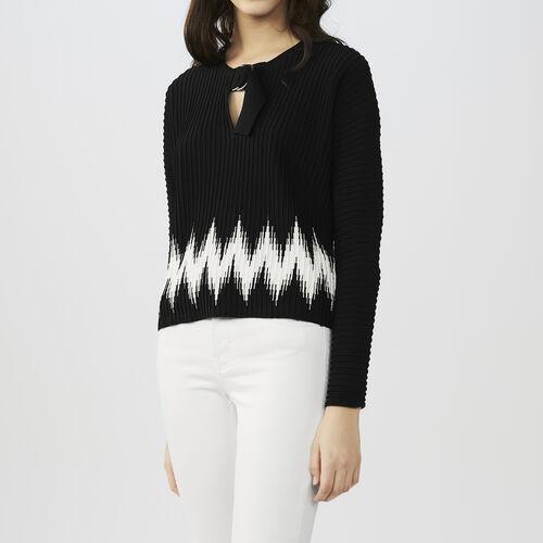 Pull fantasia in maglia : Maglieria colore Nero