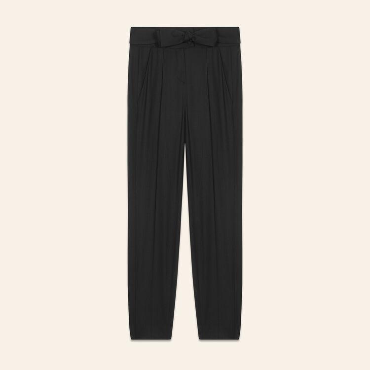 Pantaloni a carota con cintura : Pantaloni colore Nero