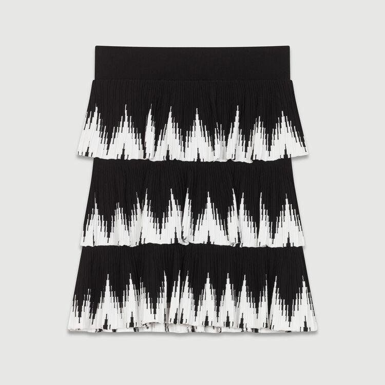 Gonna in maglia con volant : Gonne e shorts colore Nero