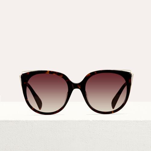 Occhiali da sole in metallo e acetato : Occhiali colore ECAILLE