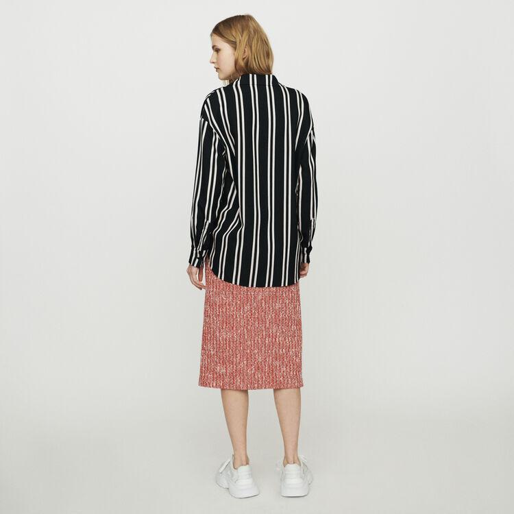 Camicia a righe trompe-l'œil : Tops e Camicie colore A Righe