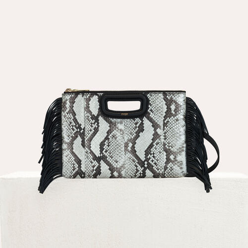 Pochette M Duo in pelle di serpente : M Duo colore NERO