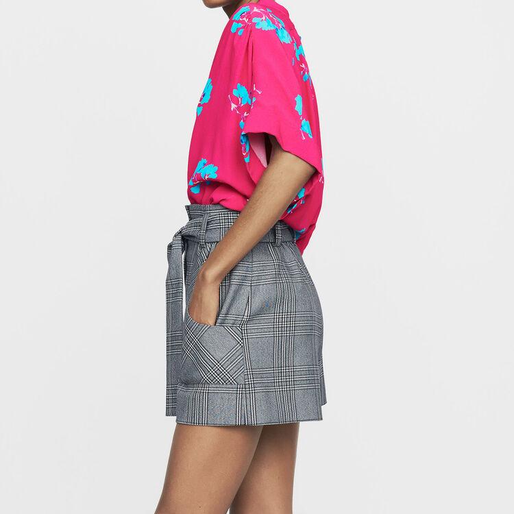 Pantaloncini stampati principe di Galles : Prêt-à-porter colore CARREAUX
