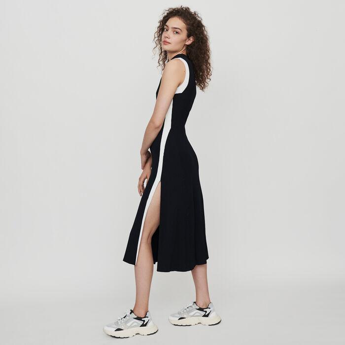 Vestito a coste a contrasto : Vestiti colore Nero