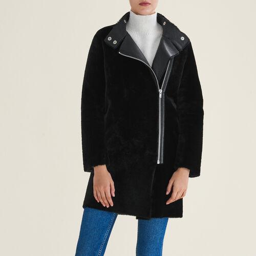 Cappotto in shearling : Cappotti colore Nero